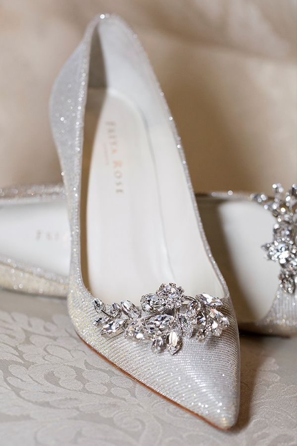 flat wedding shoes with bling photo - 1