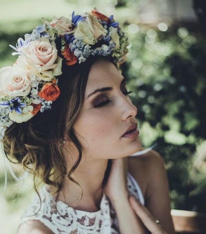 flower crown wedding photo - 1