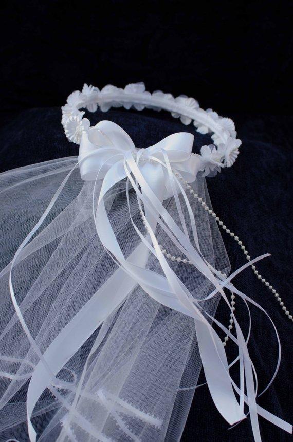 flower crown wedding veil photo - 1