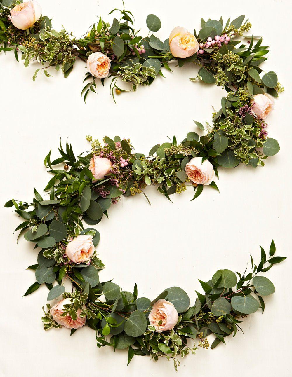 flower garland wedding photo - 1