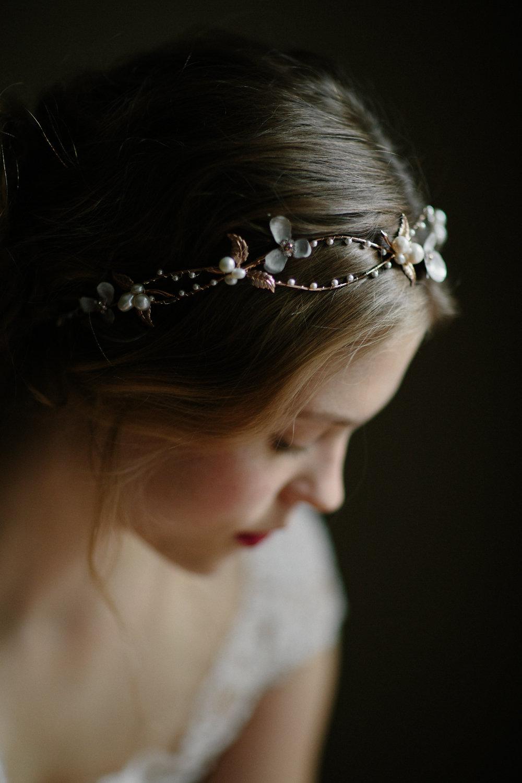 flower headpiece wedding photo - 1