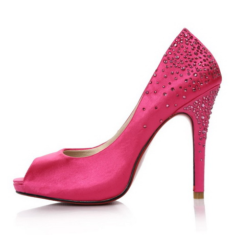 fuschia bridal shoes photo - 1