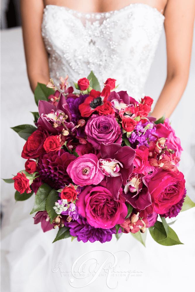 fuschia wedding bouquets photo - 1