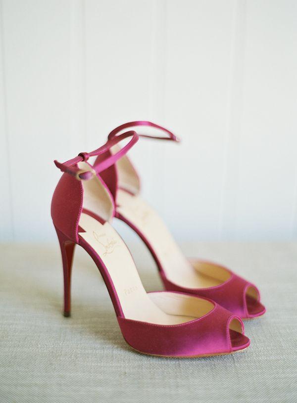 fuschia wedding shoes photo - 1
