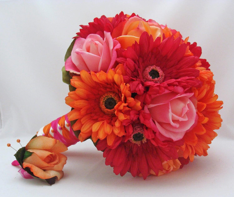 gerbera daisy wedding bouquets photo - 1