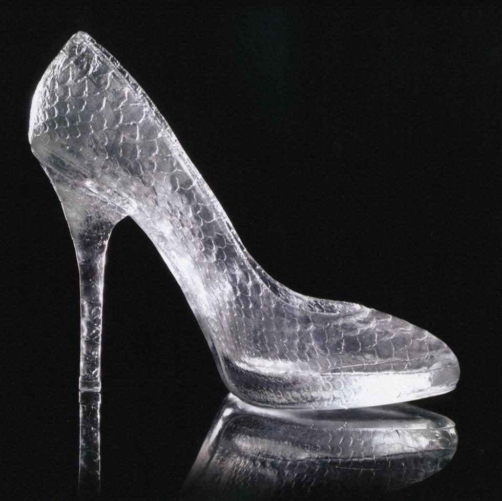 glass slipper wedding shoes photo - 1