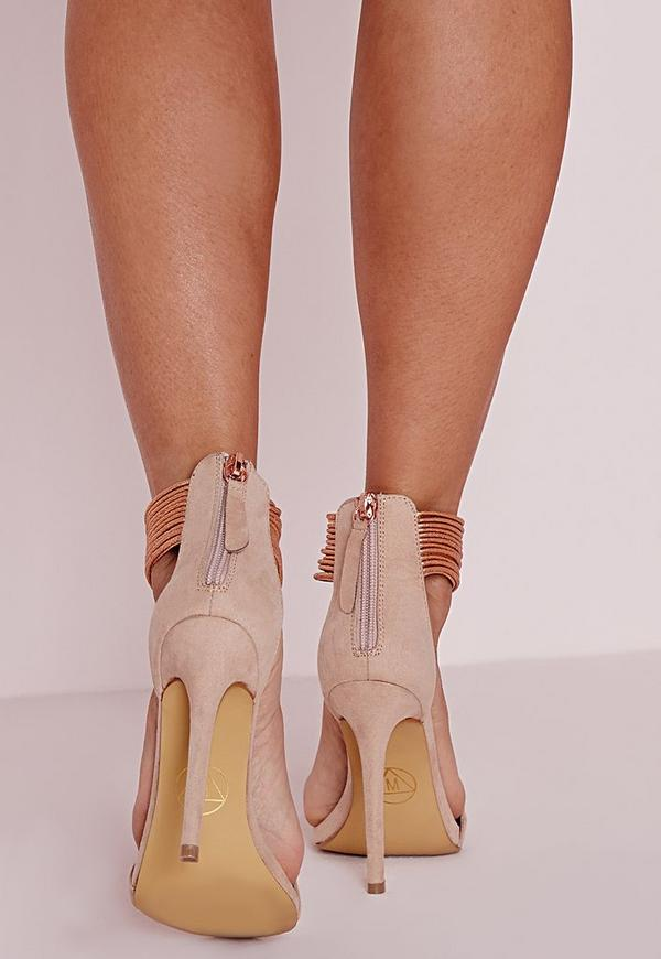 gold strappy shoes wedding photo - 1