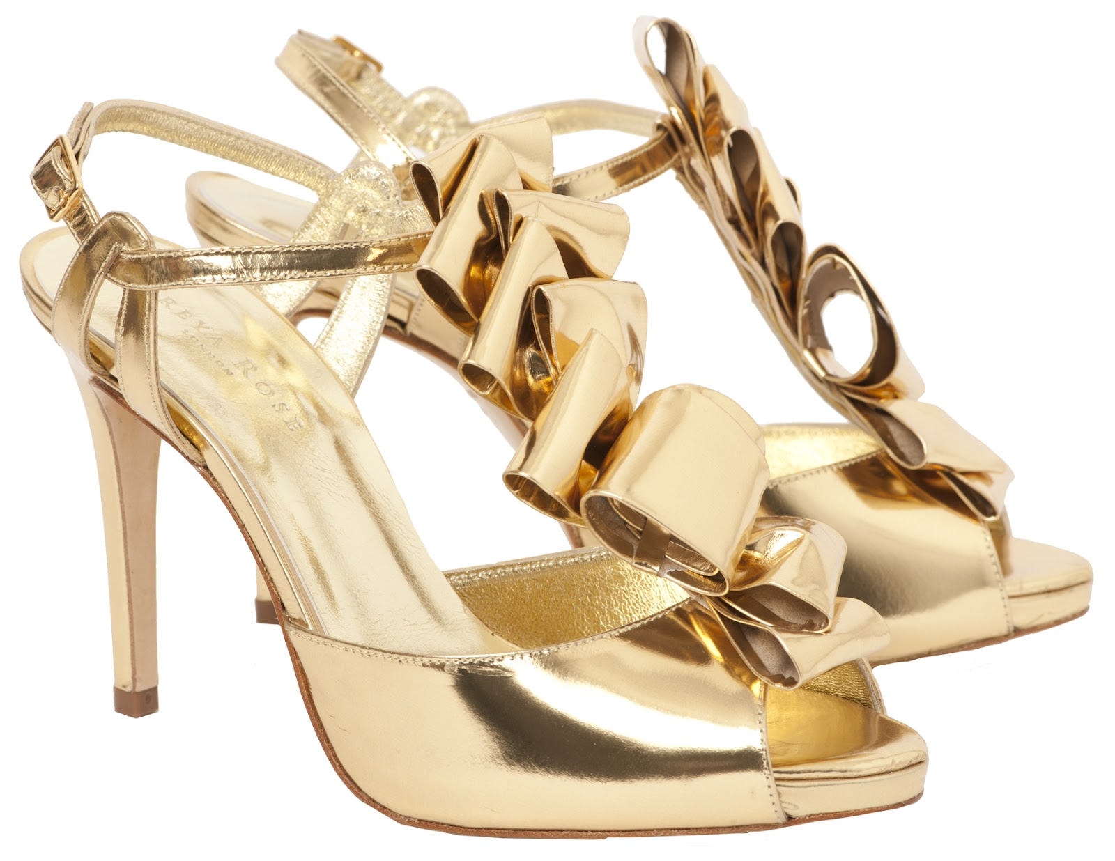 gold wedding shoes photo - 1