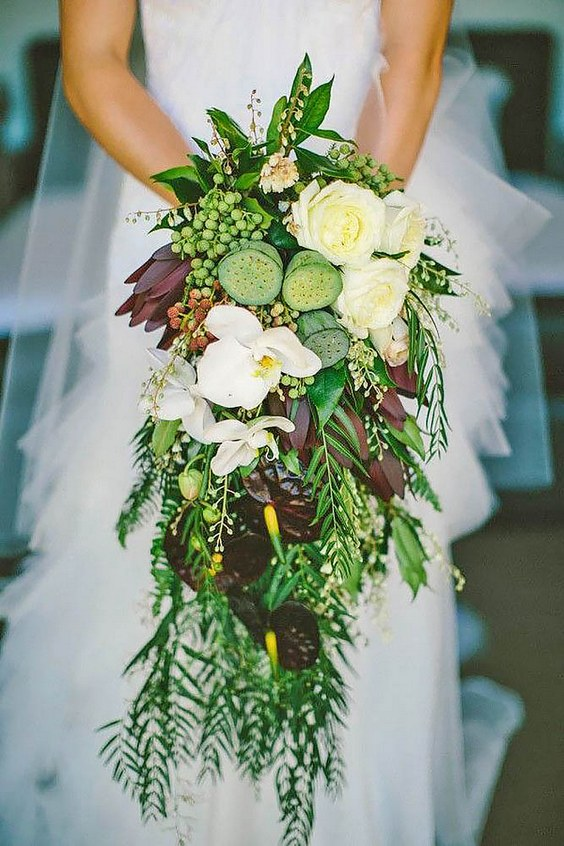 greenery wedding flowers photo - 1