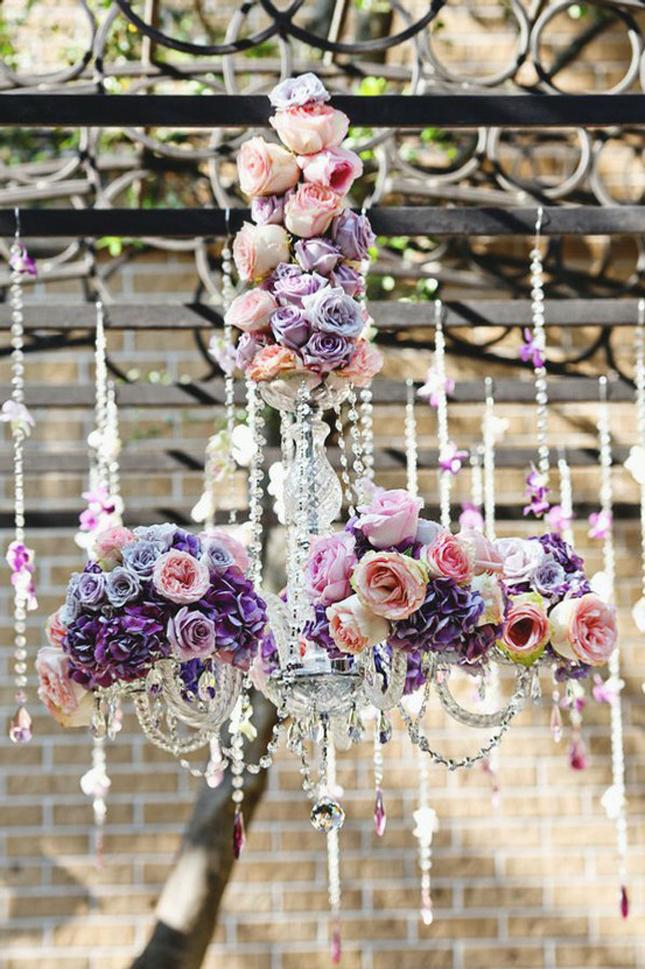 hanging flowers wedding photo - 1