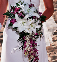 hawaiian bouquets wedding photo - 1