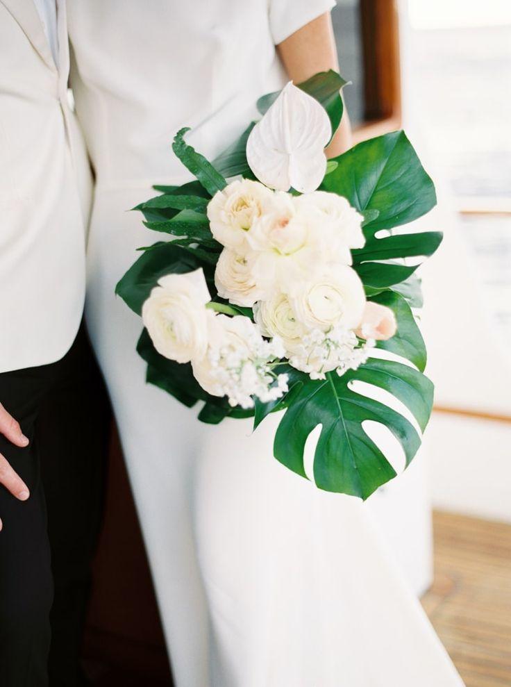 hawaiian flower wedding bouquets photo - 1