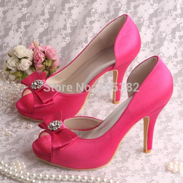 hot pink bridal shoes photo - 1