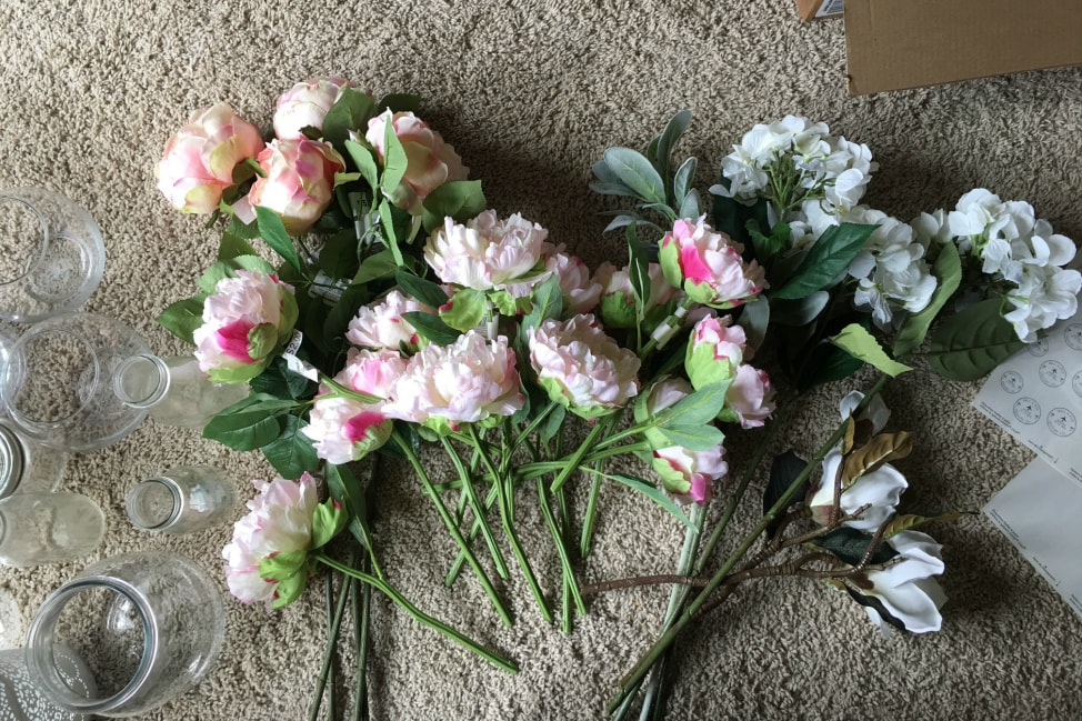 how to make a wedding bouquet with fake flowers photo - 1