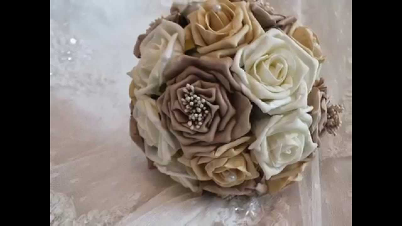 how to make a wedding bouquet with silk flowers photo - 1