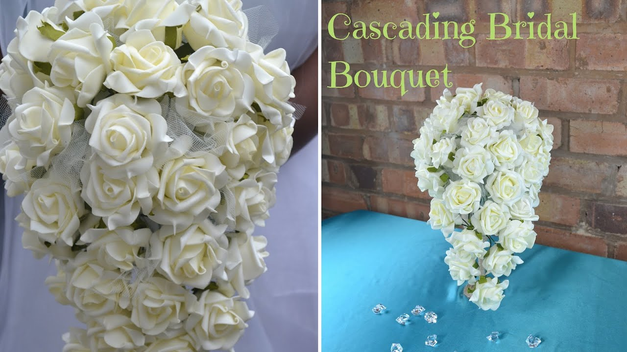 how to make cascading wedding bouquets photo - 1