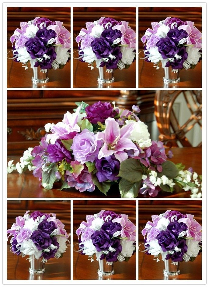 how to make wedding bouquets with silk flowers photo - 1