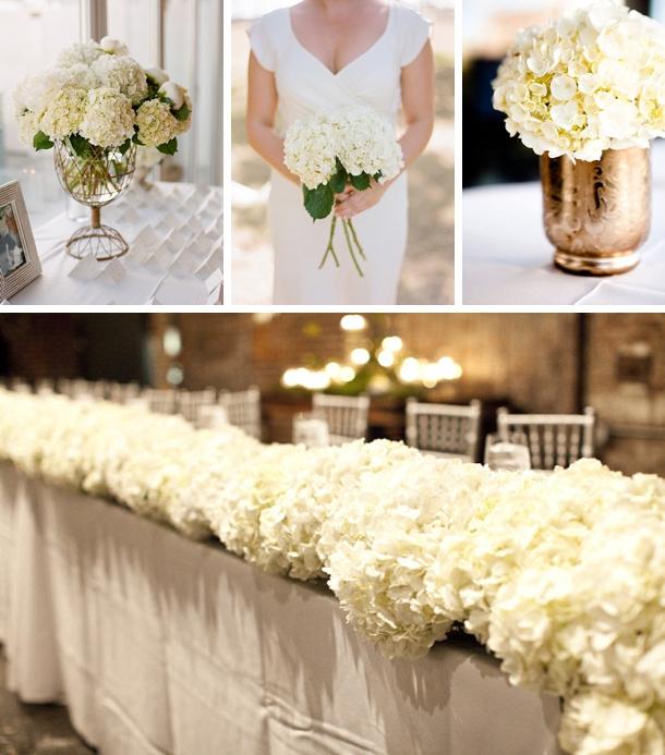 hydrangea bouquet wedding photo - 1