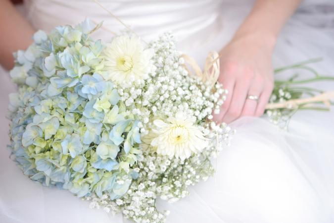 hydrangia wedding flowers photo - 1