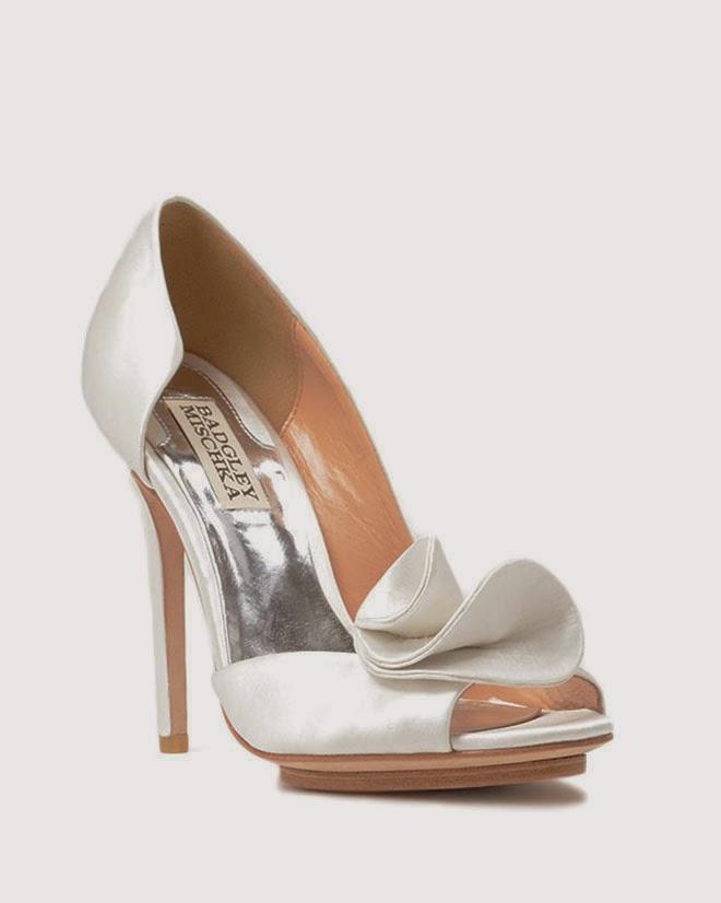 ivory badgley mischka bridal shoes photo - 1