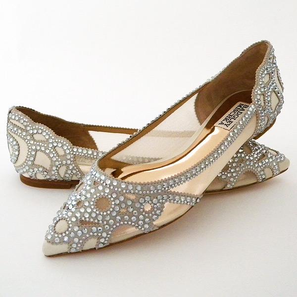 ivory bridal shoes with rhinestones photo - 1