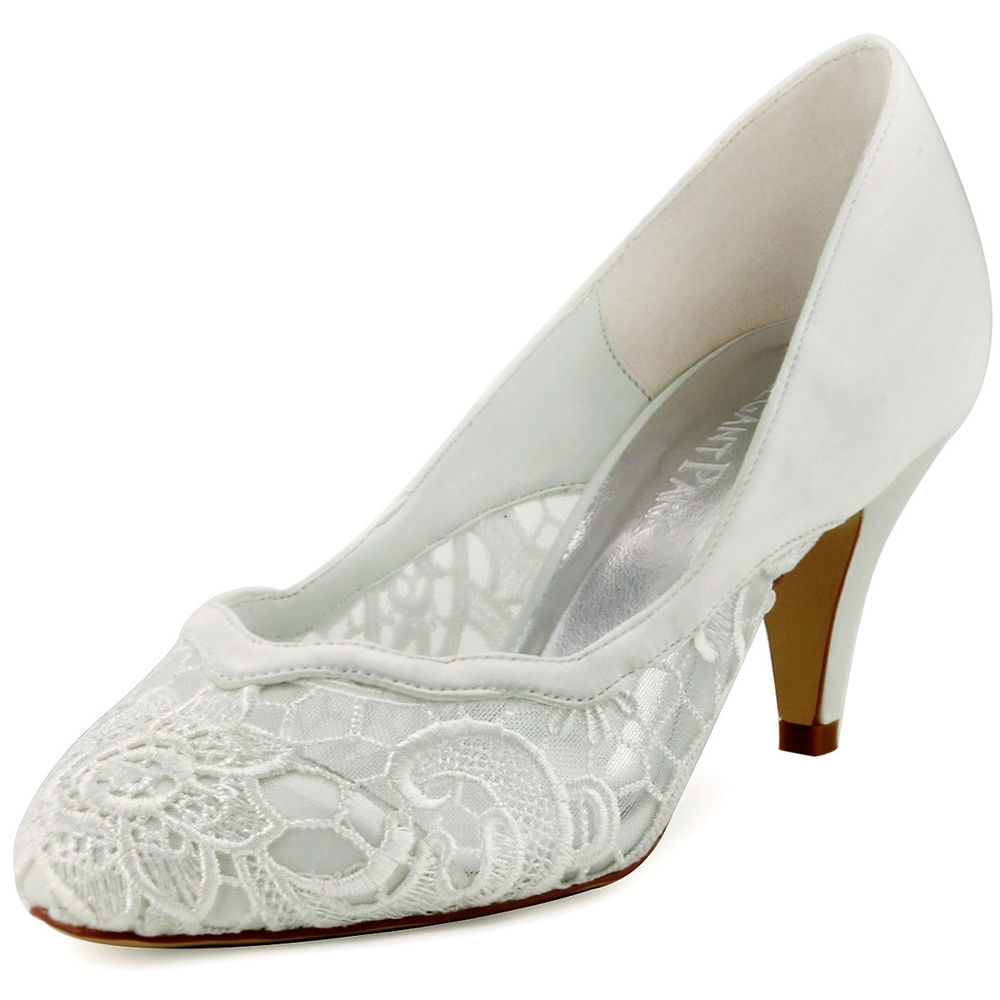 ivory closed toe wedding shoes photo - 1