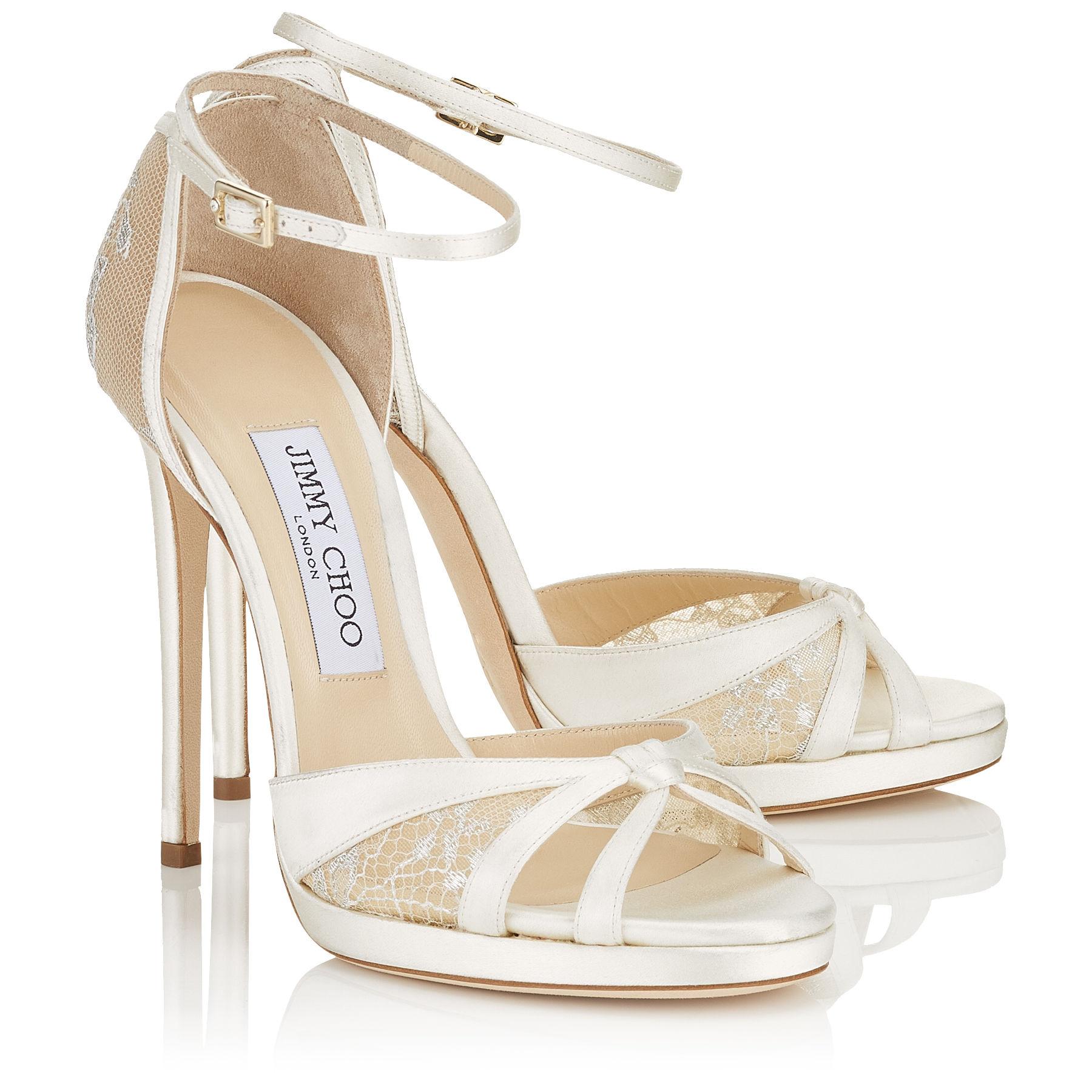 ivory lace wedding shoes photo - 1