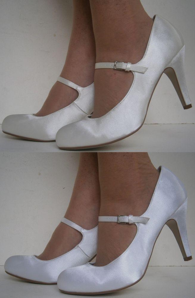 ivory mary jane wedding shoes photo - 1