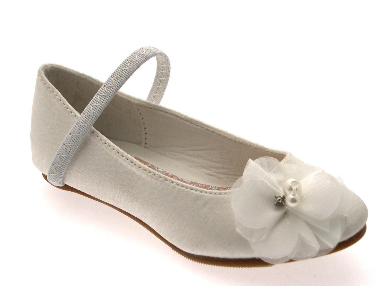 ivory satin bridal shoes photo - 1