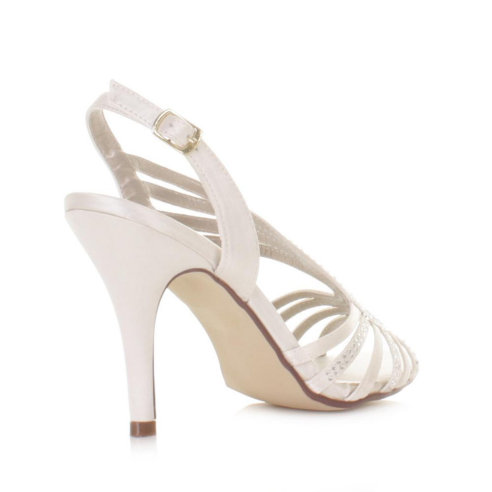 ivory strappy wedding shoes photo - 1