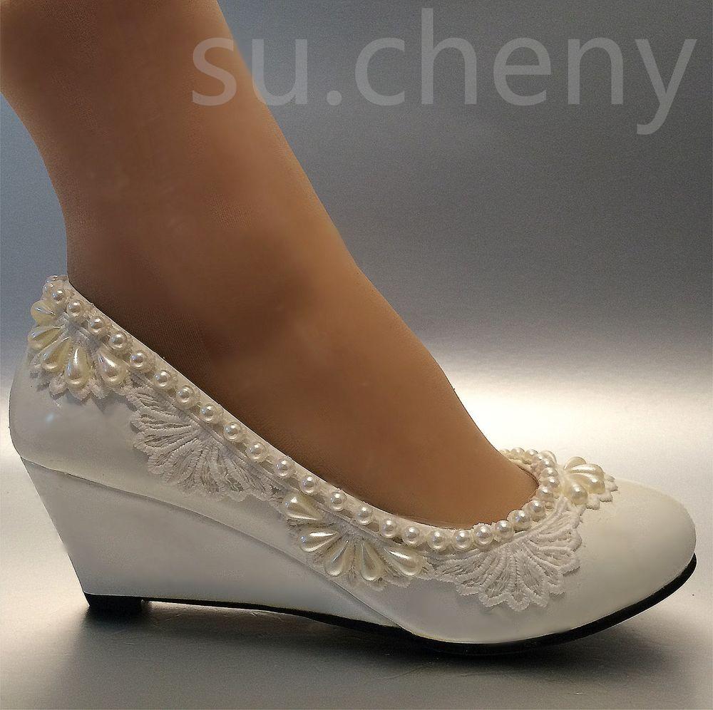 ivory wedding shoes 2 inch heel photo - 1