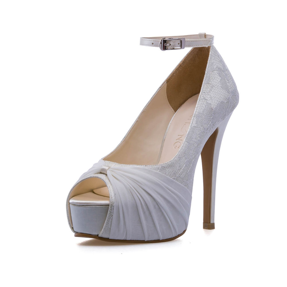 ivory wedding shoes 3 inch heel photo - 1