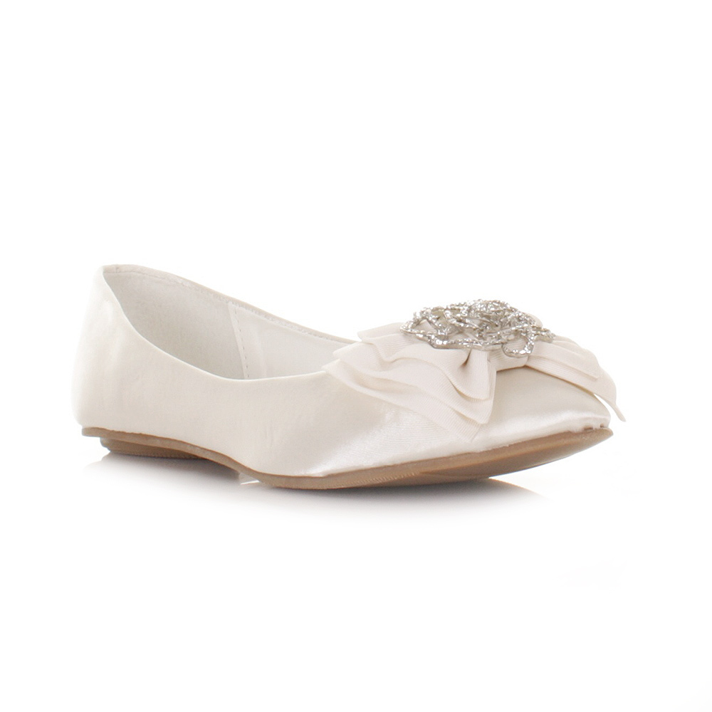 ivory wedding shoes flats photo - 1