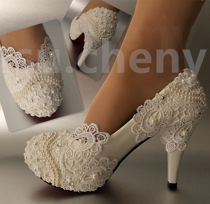 ivory wedding shoes for bride photo - 1