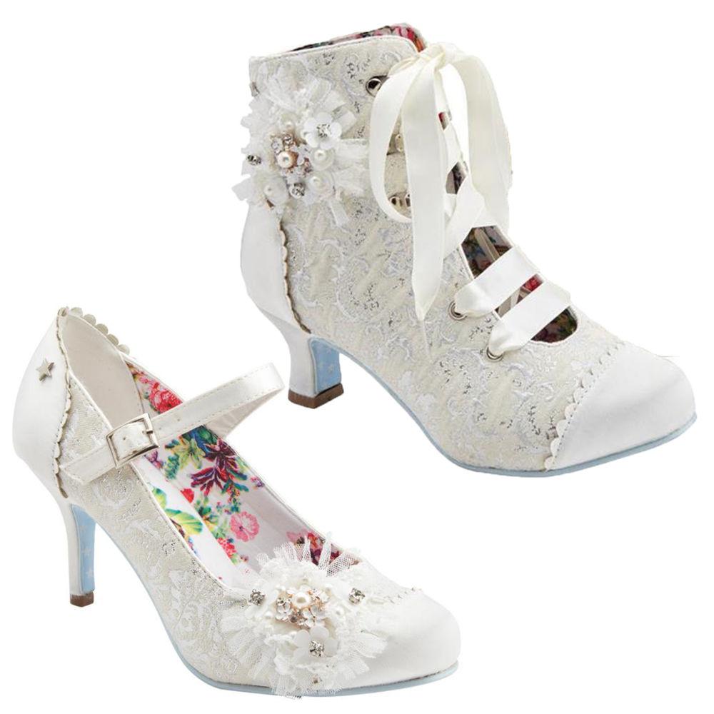 ivory wedding shoes low heel photo - 1
