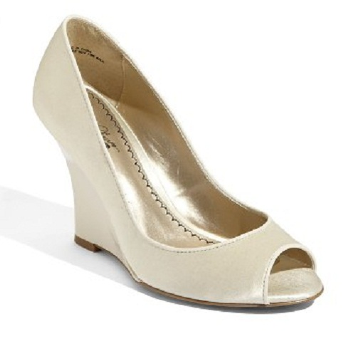 ivory wedding shoes wedge photo - 1