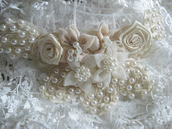 ivory wedding shoes with pearls photo - 1