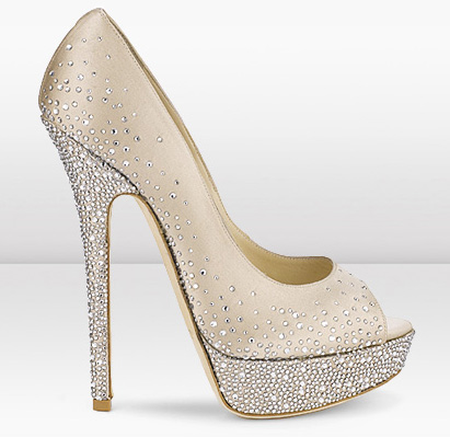 jimmy choo sparkly wedding shoes photo - 1
