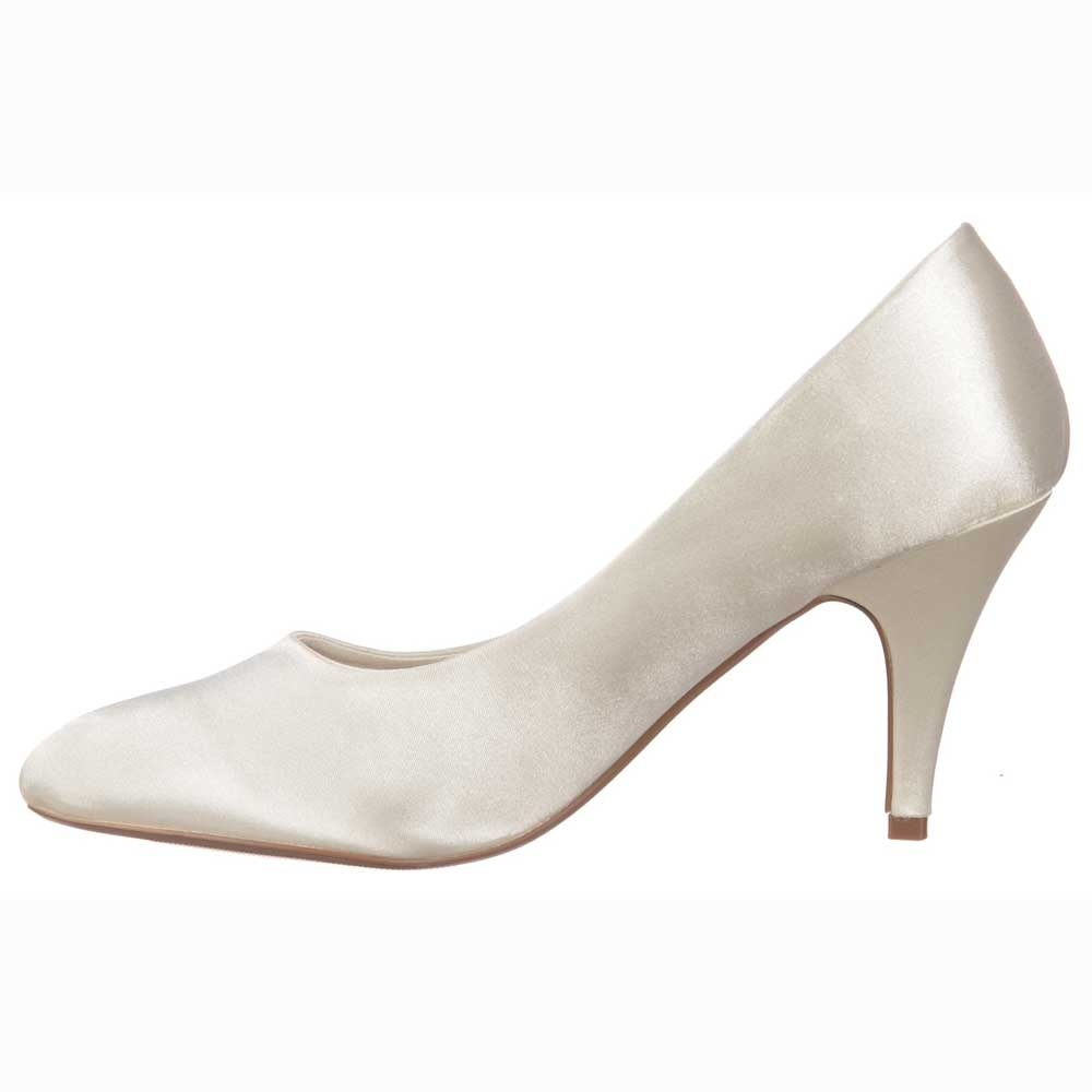kitten heel wedding shoes ivory photo - 1
