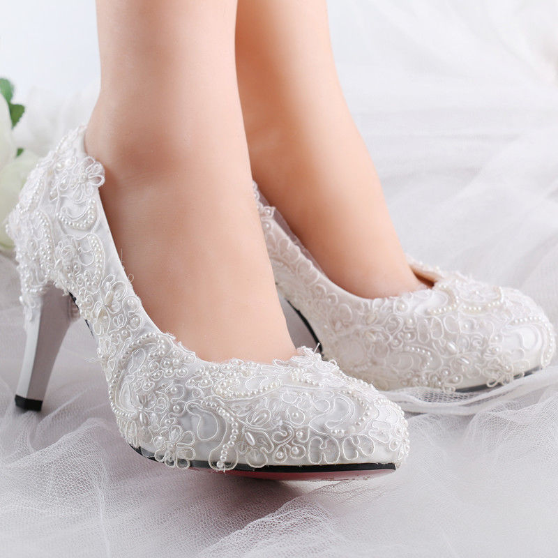 lace wedding shoes flats photo - 1