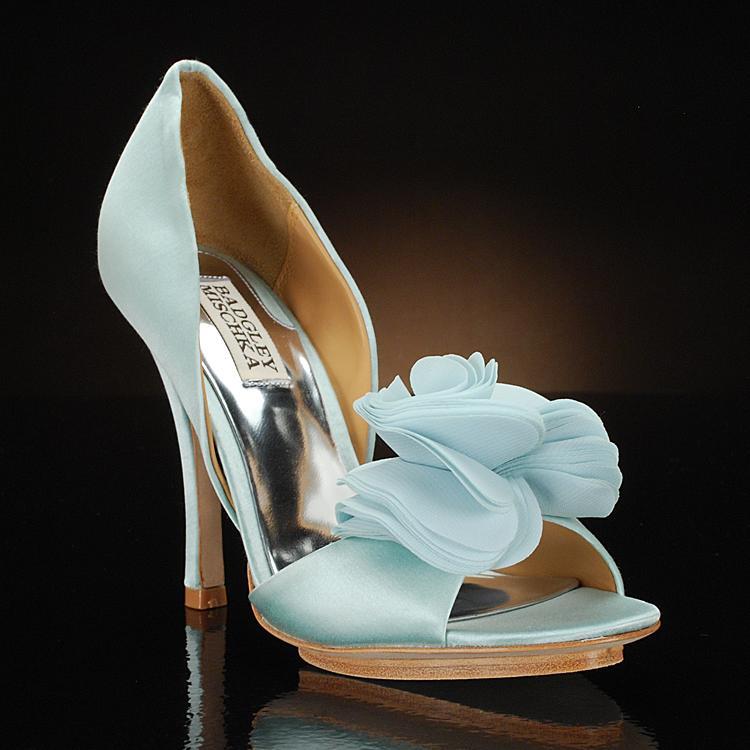 light blue bridal shoes photo - 1