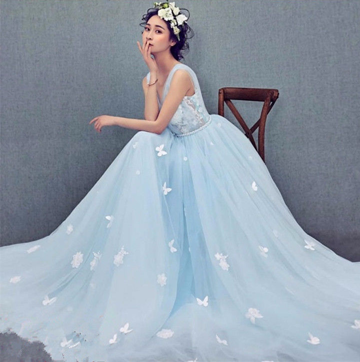 light blue wedding shoes photo - 1