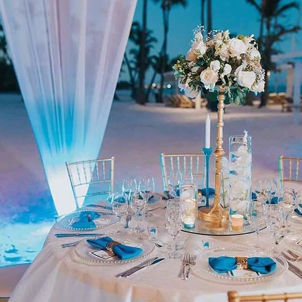 light blue wedding shoes for bride photo - 1