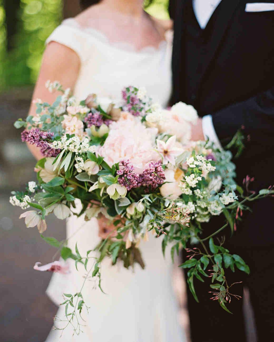 lilacs wedding bouquet photo - 1