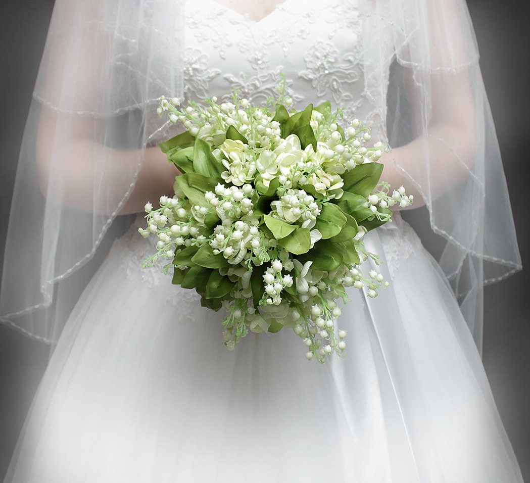 lilly of the valley wedding bouquets photo - 1