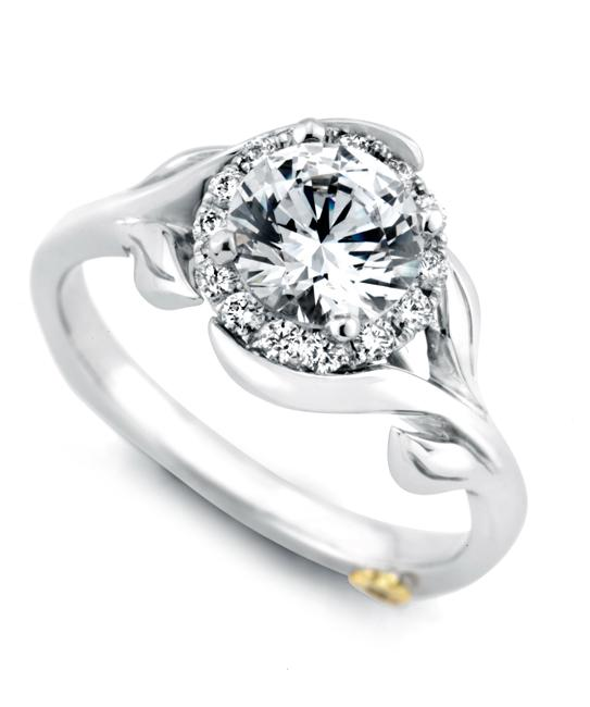 lotus flower wedding ring photo - 1