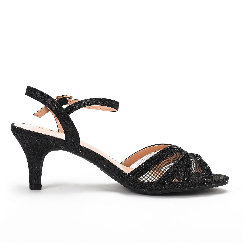 low heel wedding shoes with rhinestones photo - 1