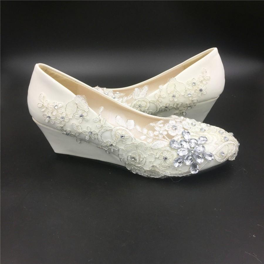 low wedge bridal shoes photo - 1