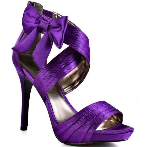 magenta wedding shoes photo - 1