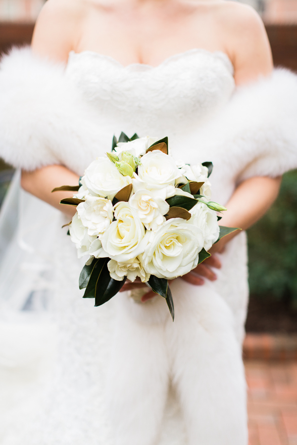 magnolia wedding bouquet photo - 1